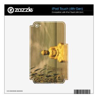 Zen buddha meditating iPod touch 4G decals