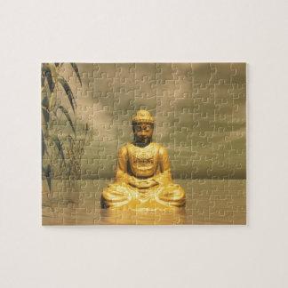 Zen buddha meditating jigsaw puzzle