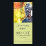 "Zen buddha meditation Yoga Massage Therapist Rack Card<br><div class=""desc"">Zen buddha meditation Yoga Massage Therapist business cards and acupuncture promotional flyers</div>"
