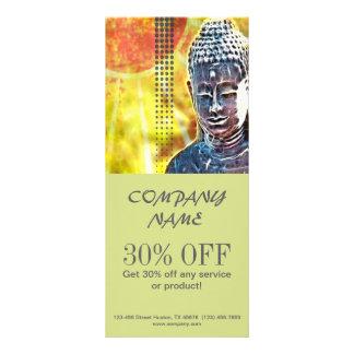 Zen buddha meditation Yoga Massage Therapist Rack Card