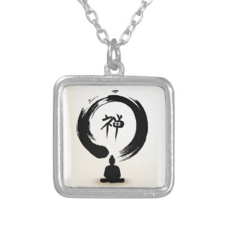 Zen Buddha necklace - square