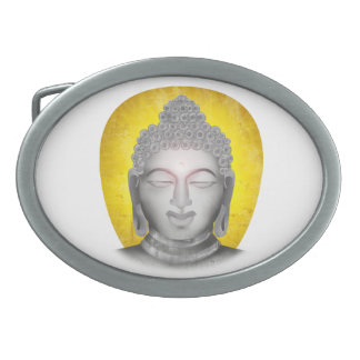Zen Buddha Oval Belt Buckle