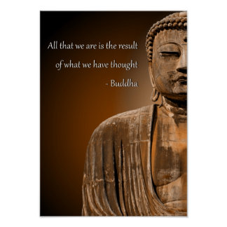 Zen Buddha Quote Inspirational Spiritual Poster