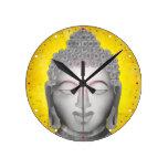 Zen Buddha Round Clocks