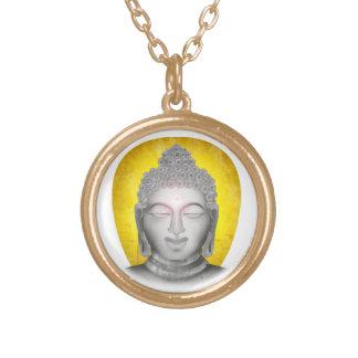 Zen Buddha Round Pendant Necklace