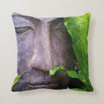 Zen Buddha Serenity Garden Green Leaves Pillows