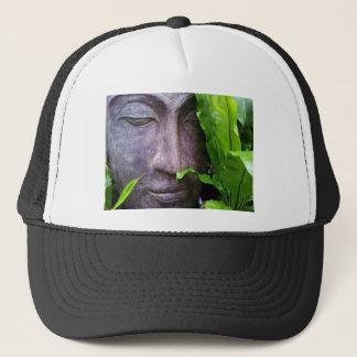Zen Buddha Serenity Garden Green Leaves Trucker Hat