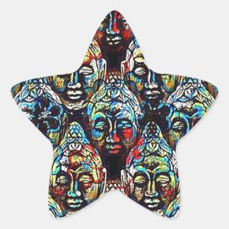 Zen Buddha Star Sticker
