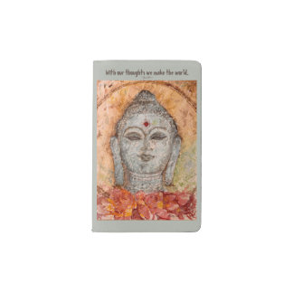 Zen Buddha Watercolor Art Pocket Notebook