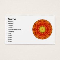 Zen Buddhist Inspired Mandela Business Cards at Zazzle