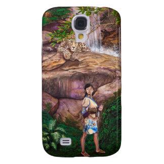 Zen Buddhist Tiger and Strawberry Samsung Galaxy S4 Case