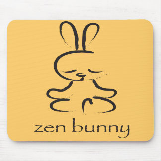 Zen Bunny Mouse Pads