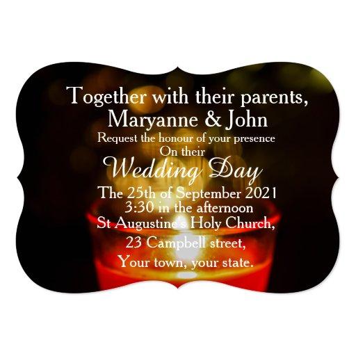 Wedding Invitation Candles: Zen Candle Rustic Light Wedding Invitations