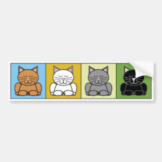 Zen Cat Bumper Sticker Car Bumper Sticker