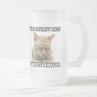 Zen Cat Frosted Glass Beer Mug