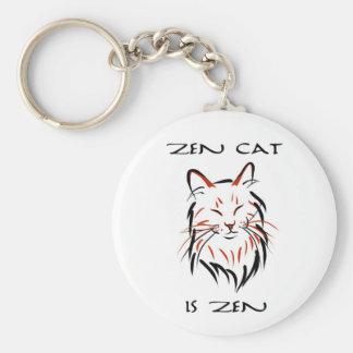 Zen Cat - keychain