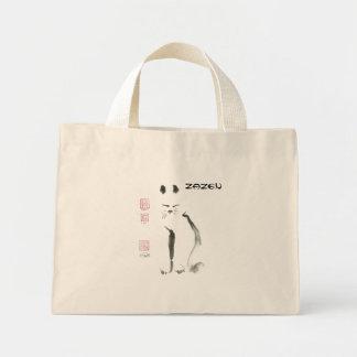 Zen Cat Meditation -  Sumi-e [ink painting] Tote Bag