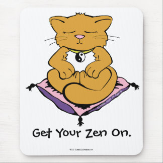 Zen Cat Mouse Pad