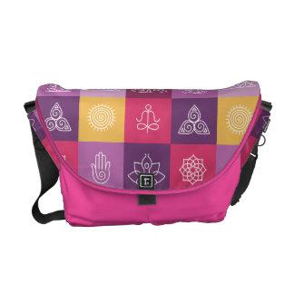 zen, chakra, yoga, paz, ohmio, tranquilty, loto, bolsas de mensajeria