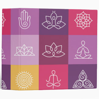 zen,chakra,yoga,peace,ohm,tranquilty,lotus,meditat 3 ring binders
