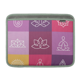 zen,chakra,yoga,peace,ohm,tranquilty,lotus,meditat sleeves for MacBook air