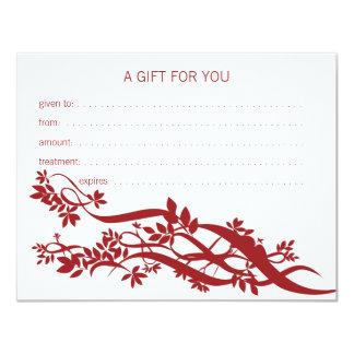 Zen Chic Massage Therapist Gift Certificate Card