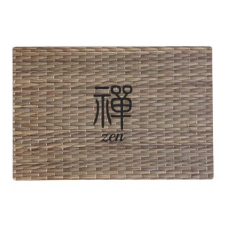 Zen Chinese calligraphy on tatami Placemat