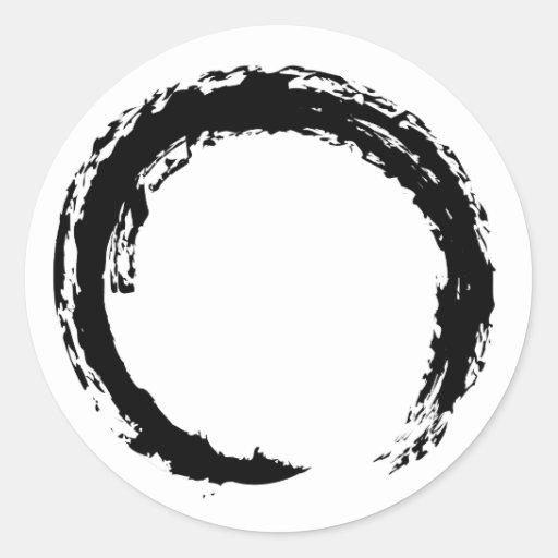 Zen Circle Classic Round Sticker