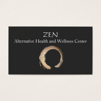 Zen Circle Enso Yoga and Meditation Buddhist 3 Business Card