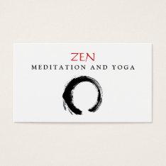 Zen Circle Enso Yoga And Meditation Buddhist 3 Business Card at Zazzle