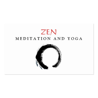 Zen Circle Enso Yoga and Meditation Buddhist 3 Double-Sided Standard Business Cards (Pack Of 100)