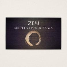 Zen Circle Enso Yoga And Meditation Buddhist Business Card at Zazzle