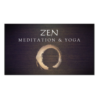 Zen Circle Enso Yoga and Meditation Buddhist Double-Sided Standard Business Cards (Pack Of 100)