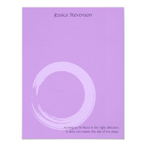 Zen Circle Flat Note Card (purplw)
