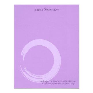Zen Circle Flat Note Card (purplw) Invite