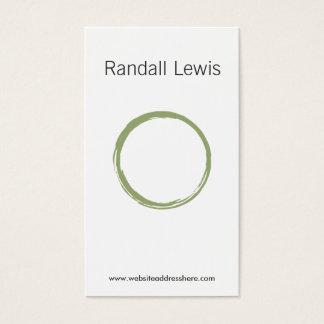 ZEN CIRCLE in MOSS GREEN Business Card
