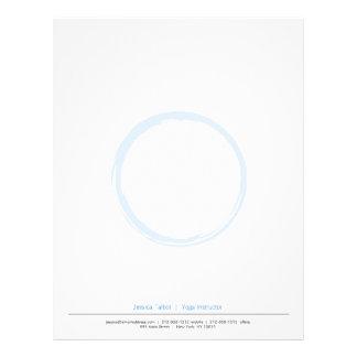 ZEN CIRCLE in SKY BLUE Letterhead