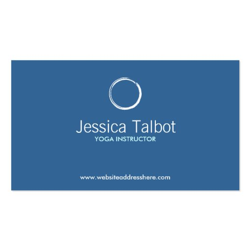 ZEN CIRCLE in WHITE/BLUE Business Card