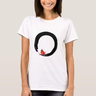 Zen Circle with Christmas Cardinal T-Shirt