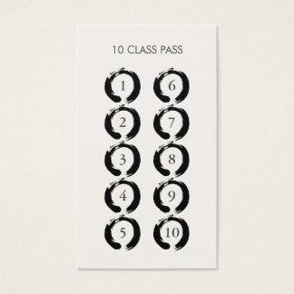 Zen Circles 10 Class Pass Card