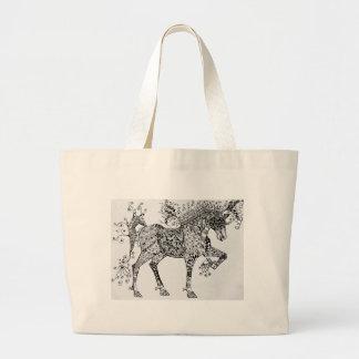 Zen Cirque Horse Large Tote Bag