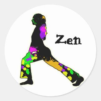 zen classic round sticker