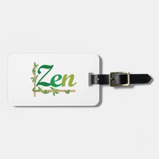Zen con el bambú etiquetas bolsas
