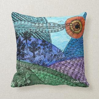 Zen Countryside Throw Pillow