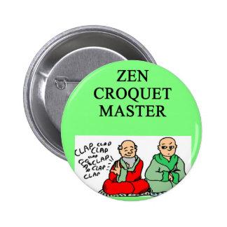 zen croquet pinback button