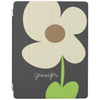 Zen Daisy Personalized iPad 2/3/4 Cover - Gray iPad Cover