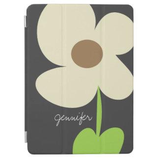 Zen Daisy Personalized iPad Air Cover - Gray