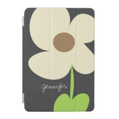 Zen Daisy Personalized iPad Mini Cover - Gray at Zazzle