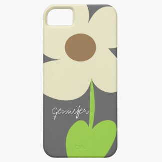 Zen Daisy Personalized iPhone 5 Case