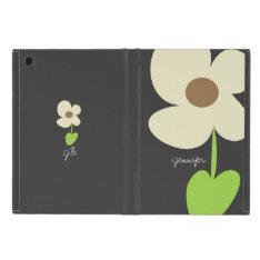 Zen Daisy Personalized Powis iPad Mini Case - Gray at Zazzle